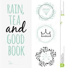 Inspirational Romantic Quote Card Rain Tea And Stock Vector