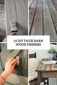 14 diy faux barn wood finishes cover