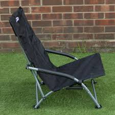 andes black low folding beach fishing camping deck chair outdoor garden lounger sports outdoors best fold