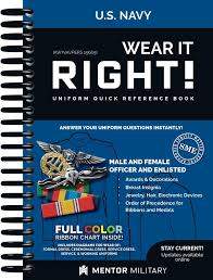 Navy Ribbon Chart Wear It Right Navy Uniform Book