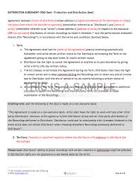 Artist Agreement Contract Music Distribution Contract Template 15