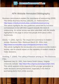 Find The Best Annotated Bibliography Apa Example Here
