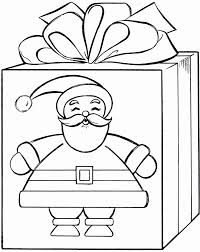 Christmas Elf Coloring Pages Awesome Present Page 3 7478 Of Within