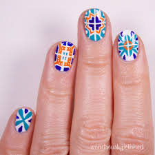 Wondrously Polished: Nail Art: Talavera Mexican Tiles