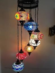 turkish style lighting. 7 ball multicolour large mosaics turkish moroccan hanging glass mosaic helezon chandelier lamp lighting style