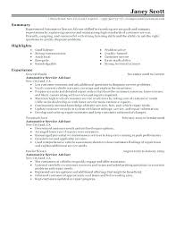Auto Service Manager Resumes Financial Service Manager Sample Resume Podarki Co