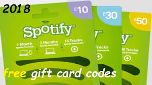 free spotify gift card codes how to get spotify card 2018