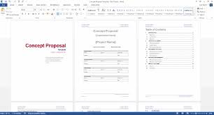 It Proposal Template Word Concept Proposal Template MS Word 4
