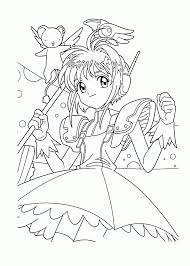 Sakura Manga Coloring Pages For Kids Printable Free Adult Coloring