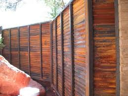 rusty sheet metal fence. Perfect Metal LOOKS LIKE Wood But Its A Purposely Rust Sheet Metal Fencemaybe I Could  Use This To Hide That U0027wideu0027 Area Behind The House Coyotes Come Out Of Intended Rusty Sheet Metal Fence Pinterest