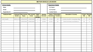 log book template 5 vehicle log book templates free sample templates