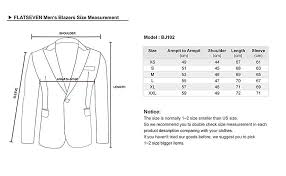 Mens Small Jacket Size Chart Flatseven Mens Fit Casual Premium Blazer Jacket