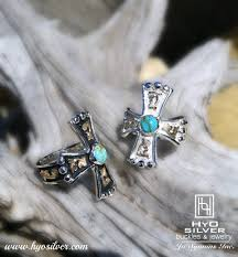 hyo silver cross rings good western turquoise cross ring w antique hyo silver
