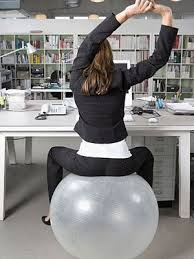 balance ball simple exercises you can do at work