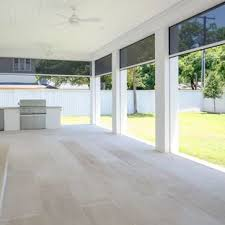 Modern patio floor Cast Concrete Large Minimalist Concrete Paver Screenedin Back Porch Photo In Dallas With Roof Extension Pinterest 75 Most Popular Modern Porch Design Ideas For 2019 Stylish Modern