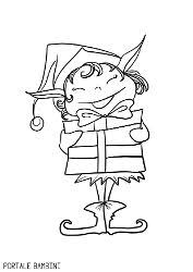 Christmas Elf Coloring Pages Free To Print Portale Bambini