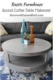 rustic farmhouse round coffee table