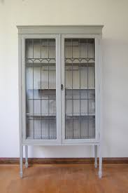 Metal Glass Display Cabinet White Painted Wooden Display Cabinet Come With Clear Glass Door