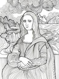 Small Picture Free Art History Coloring Pages Mona lisa Printing and Artist