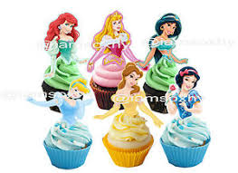 Disney Princess Cupcake Toppers Not Edible Ebay