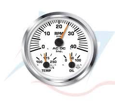 multigauge 4k rpm tachometer temp pressure ac dc marine inc multigauge 4k rpm tachometer temp pressure
