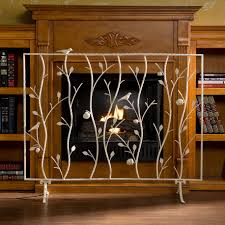 image of painted fireplace screens