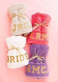 colorful monogrammed beach towels