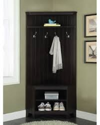 Corner Coat Rack With Bench Hall Tree With Shoe Storage Willothewrist 77