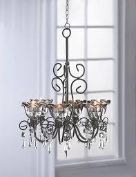midnight blooms black chandelier