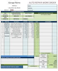Mechanics Job Card Template Time Sheet Motor Mechanic Spitznas Info
