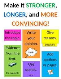 Lucy Calkins Opinion Writing Anchor Chart Grade 2