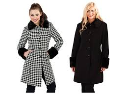 womens warm winter coat faux fur cuffs collar woollen jacket las size uk 8 14
