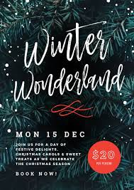 Christmas Event Winter Wonderland Christmas Event Template Easil