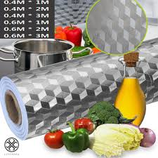 Luxtrada <b>Kitchen</b> Waterproof Oil Proof Aluminum Foil Stickers <b>Anti</b> ...