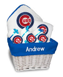 personalized chicago cubs um gift basket