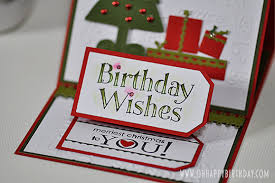 Christmas Birthday Cards Attractive Christmas Birthday Cards With A Festive Feel