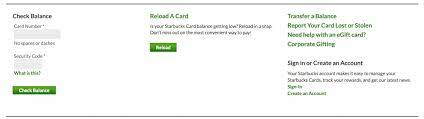how to access starbucks gift card