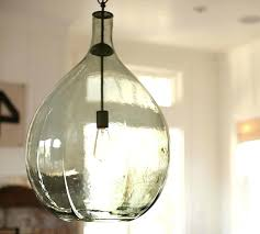 oversized glass pendant pottery barn seeded lights paxton