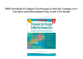 Common Core Lexile Levels By Grade Chart Pdf Download 25 Complex Text Passages To Meet The Common