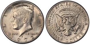 1972 Kennedy Half Dollar Value Chart