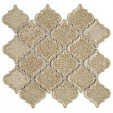 roman selection raw ginger lantern glass mosaic tile 3 in x 6 in tile sample