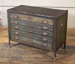 Vintage lateral file cabinet Locking American Metal Lateral File Storage Cabinet Vintage Industrial Table Worn Leather Top For Sale 1stdibs Metal Lateral File Storage Cabinet Vintage Industrial Table Worn