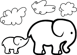 Elephant Coloring Pages Printable Book Cute Pdf Mebelmag