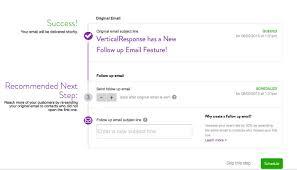 Verticalresponse Sending A Follow Up Email