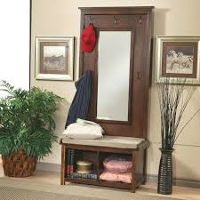 Coat Rack Bench With Mirror Amazon Wildon Home Bonney Lake Hall Tree Indoor Furniture 45