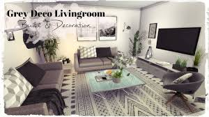 Sims 4 Grey Deco Livingroom Build Decoration For Download