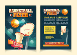 Free Flyers Backgrounds Cartoon Background With Flyers To Invite On Basketball Game