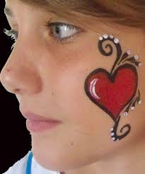simple face painting cheek designs