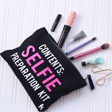 selfie preparation kit make up bag personalised