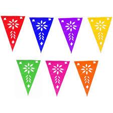 Triangle Banner Multicolor Plastic Picado Pennant Banner